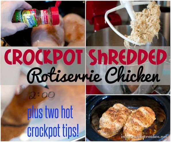 crockpot shredded rotiserrie chicken