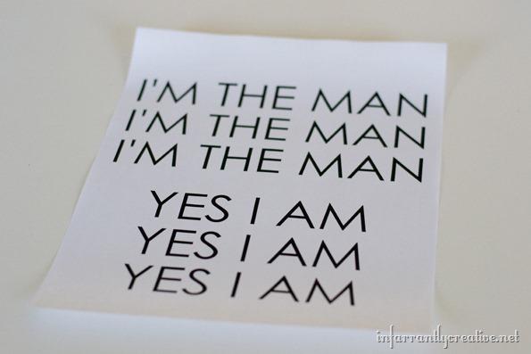 i'm the man tshirt