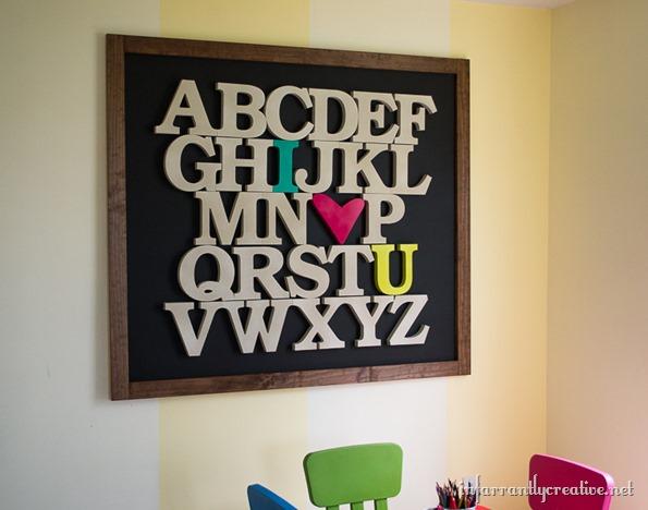 i heart you wood alphabet sign