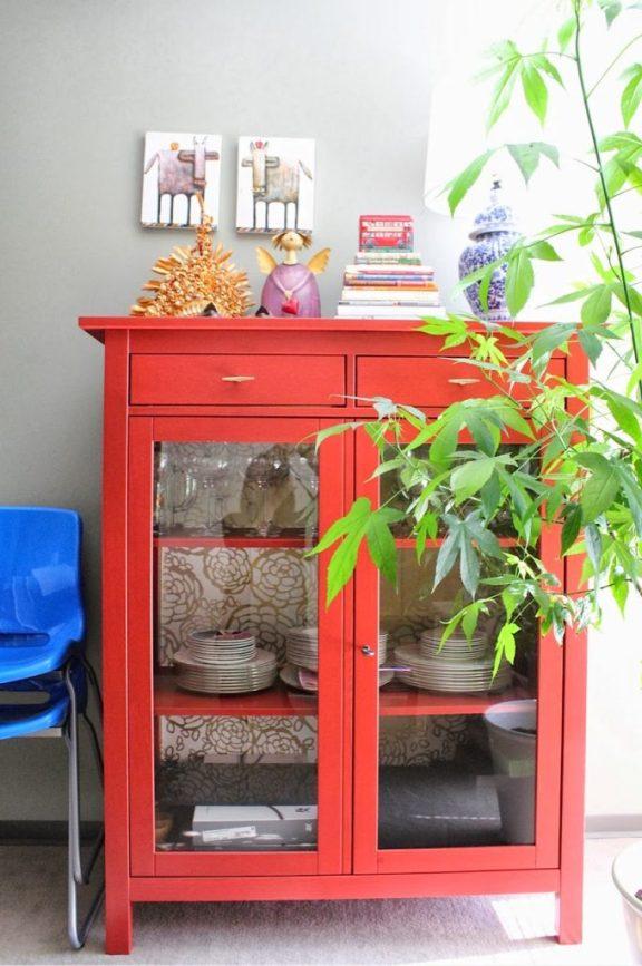 ikea-hemnes-linen-cabinet-red