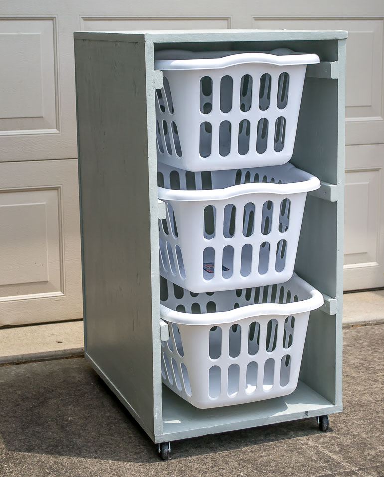 rolling laundry basket dresser