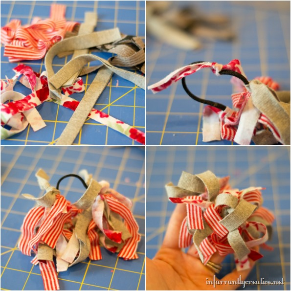 tshirt ponytail holder