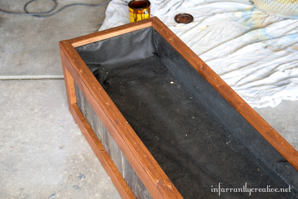 wood and fence picket planter box