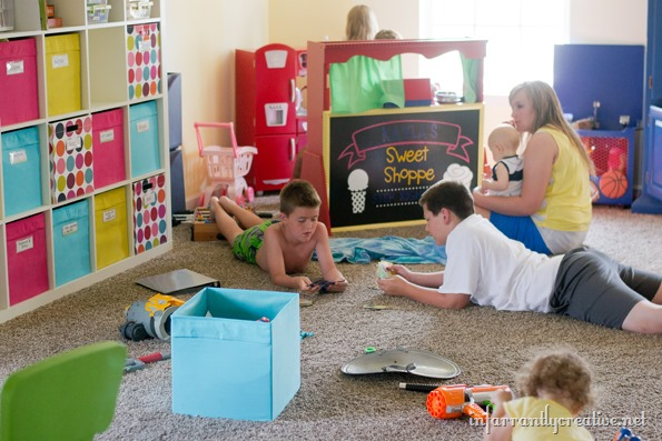 playroom in use