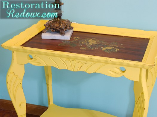 Yellow-table-refinished