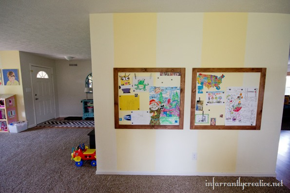 magnetic wall in playroom