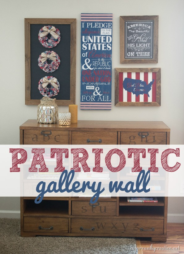 patriotic wall decoration gallery-wall