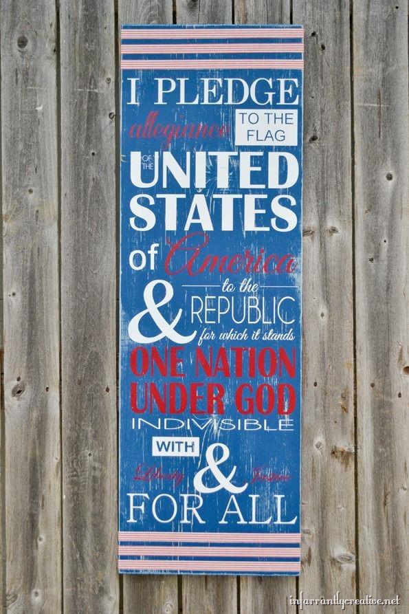 i pledge of allegiance sign