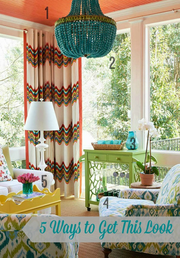 summer-color-living-room-5-ways