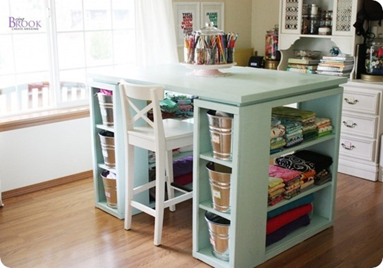 counter height craft room table