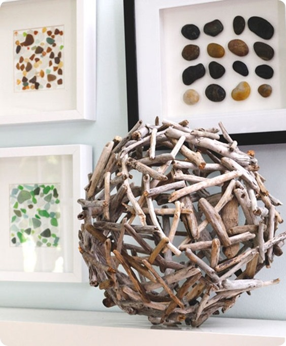 crate and barrel inspired driftwood orb
