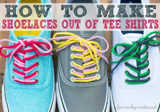 How to Make T-shirt Shoelaces