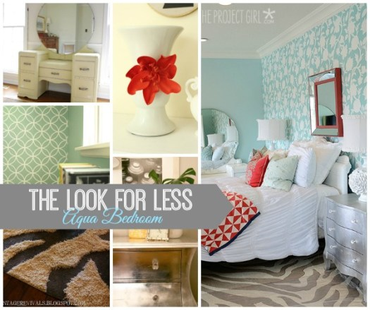 5 Ways to Get This Look:  Aqua Bedroom
