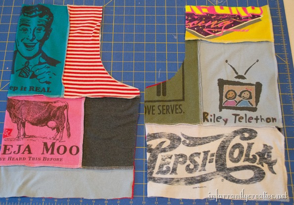 making shirts out of old tee shirts