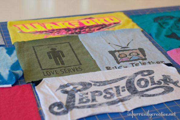 upcycling tee shirts into shorts
