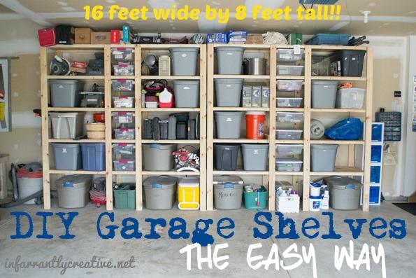 diy garage shelf_organization - How To Build Garage Shelves