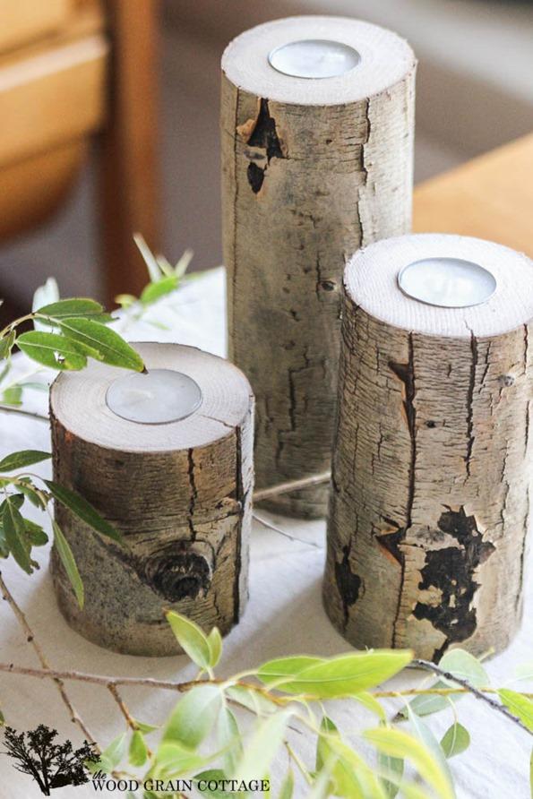 Tree Limb Candle Holder