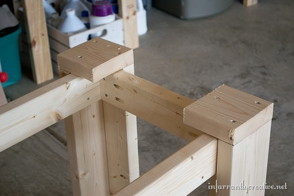 building a movable work table