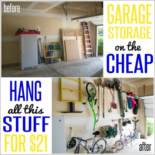 How to Hang Stuff in your Garage ON THE CHEAP!