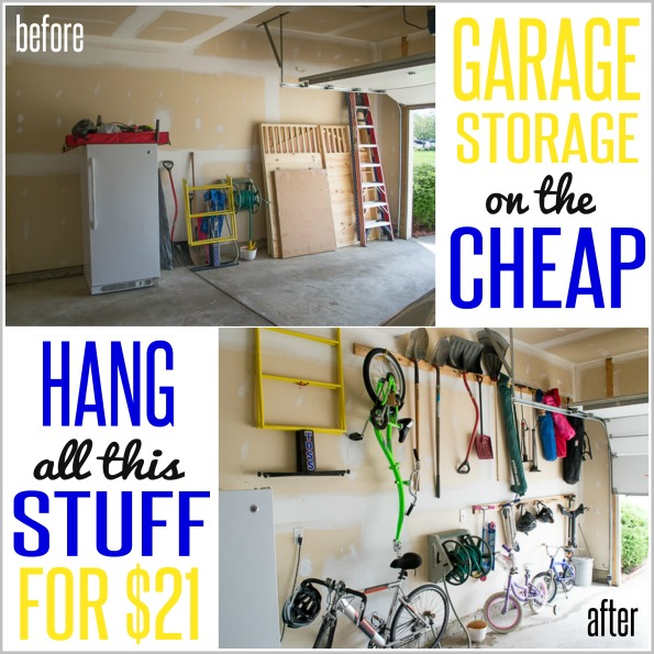 How to Hang Stuff in your Garage ON THE CHEAP! - Infarrantly Creative