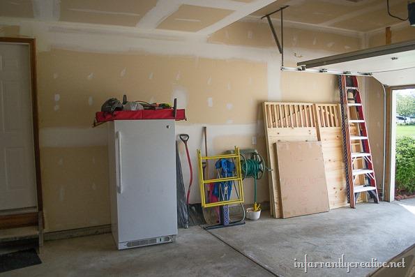messy garage before