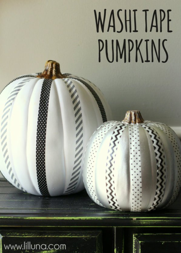Washi-Tape-Pumpkins