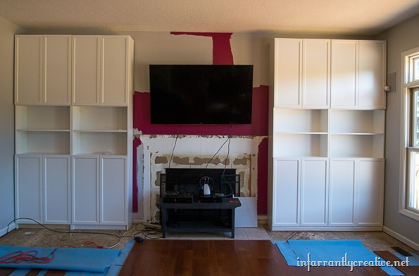 Family Room Makeover Part 1: Installing IKEA BILLY Bookcases