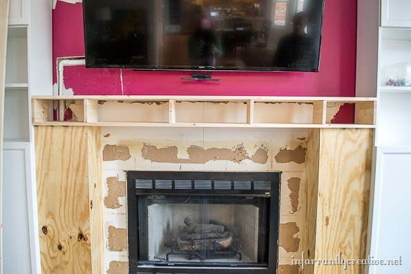 how to build a mantel