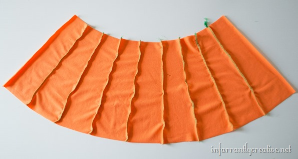 how to make a pumpkin skirt