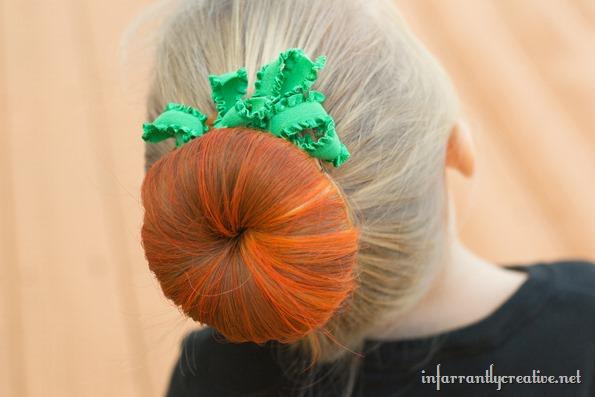how to make pumpkin hair