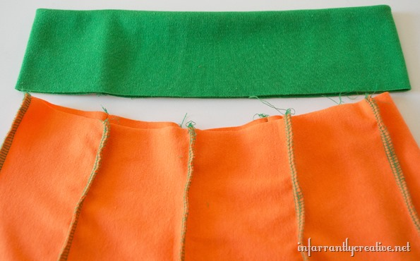 how to sew a pumpkin skirt