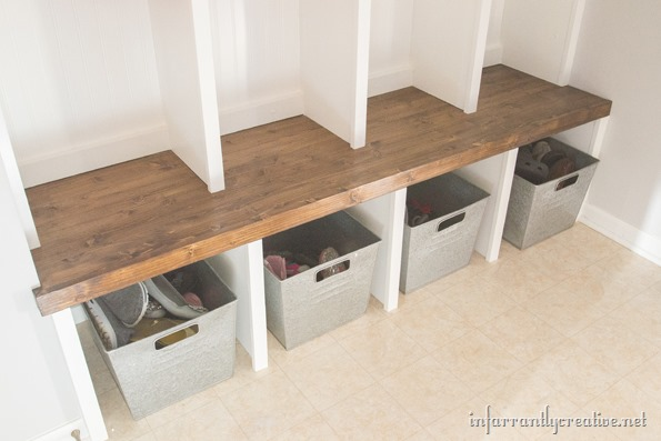 mudroom bench plans