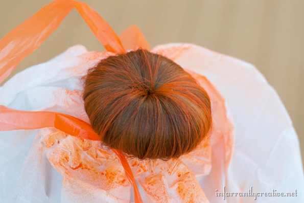 orange hairspray