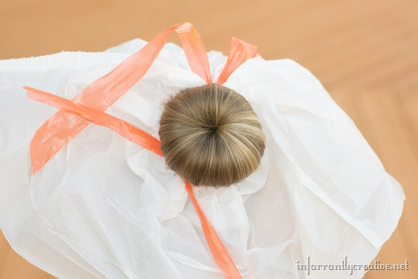 orange pumpkin hair