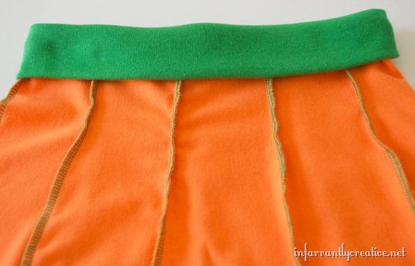pumkin skirt waist band