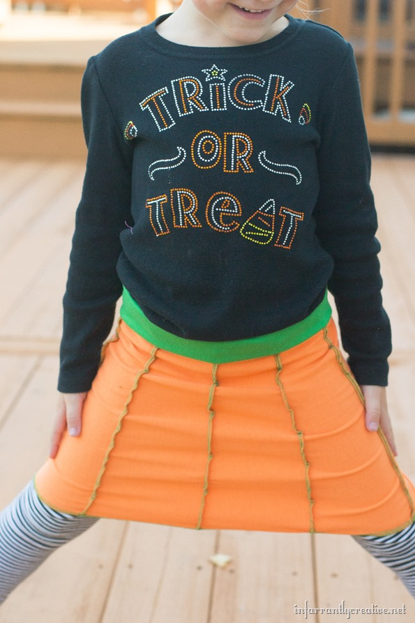 pumpkin skirt for halloween