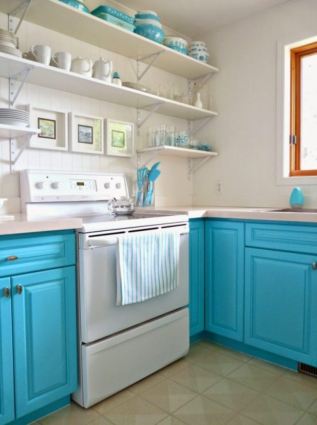 turquoise-painted-cabinets