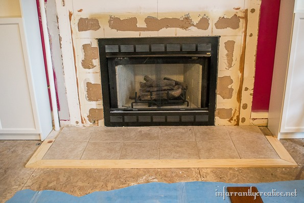 Family Room Makeover Part 2: Framing Out the Fireplace - Infarrantly ...