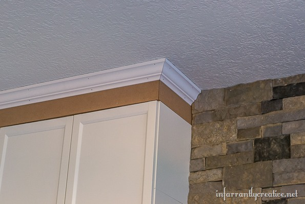 billy bookcase with crown molding