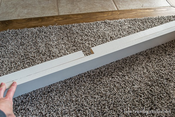 baseboards on bookcases