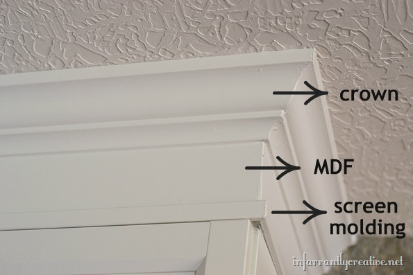 installing crown molding on bookcases