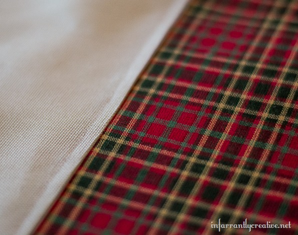 christmas red green plaid pillow