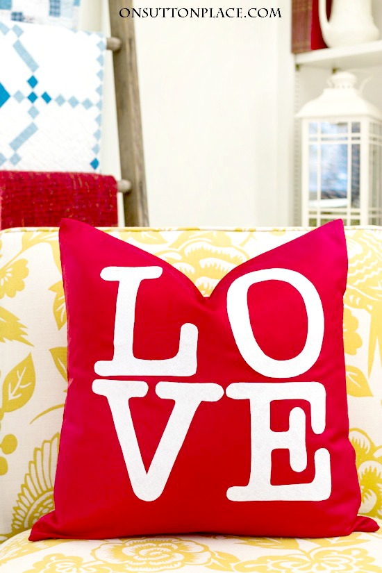 DIY No Sew Pillow for Valentine's Day
