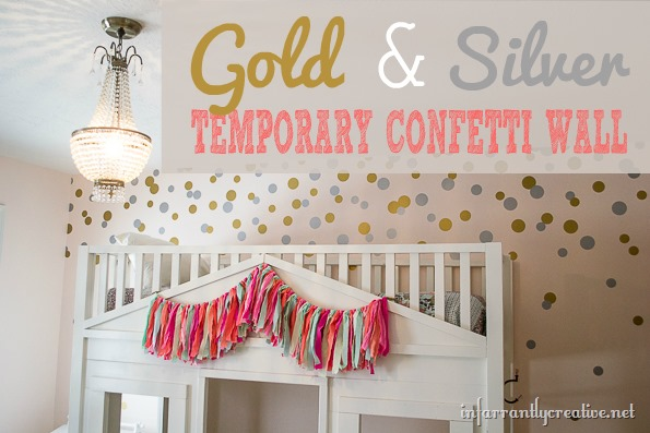 DIY Wall Decor | Creating Temporary Gold & Silver Confetti Wall