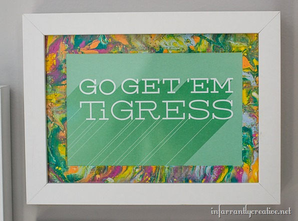 marbling picture frame mats