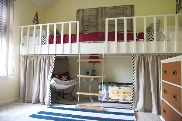 Trend double loft bed alcove