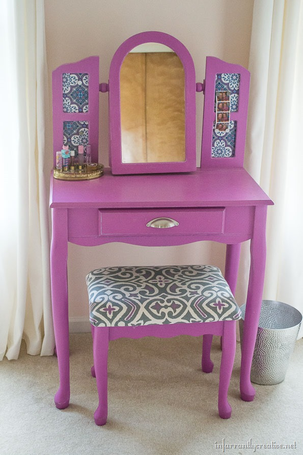 painted radiant orchid vanity