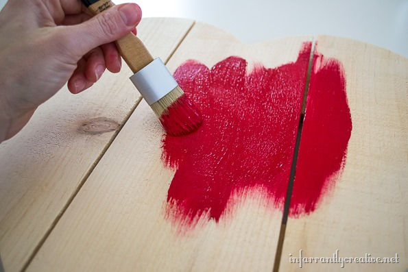painted red heart sign