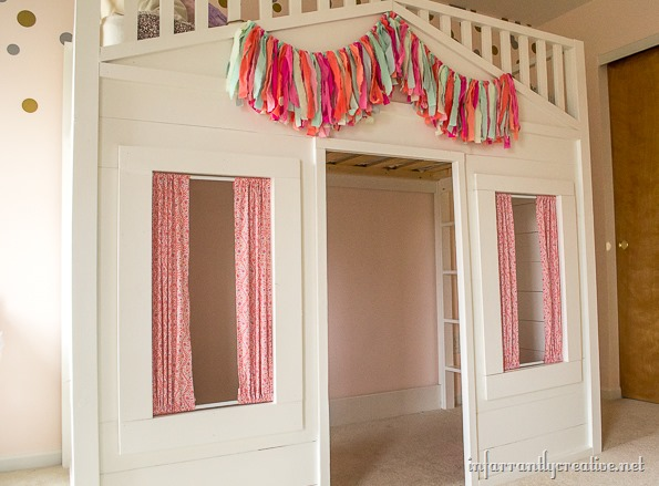 pb kids cottage loft bed