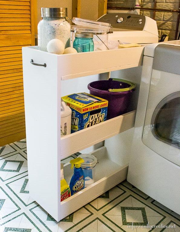 DIY-laundry-rolling-shelf